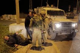 اصابة جندي خلال اقتحام الاحتلال مخيم بلاطة واعتقال 13 مواطنا في الضفة