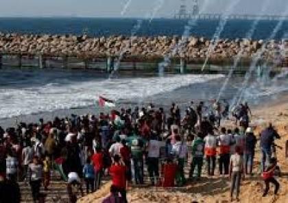 محدث: 20 اصابة خلال قمع الاحتلال للحراك البحري الـ24 شمال القطاع والحرائق مجددا بالغلاف