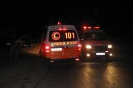 اصابة ٤ مواطنين جراء حادث سير شمال الخليل