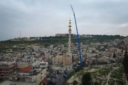 الاف الفلسطينيين يحتفلون بتدشين أطول مئذنة في القدس المحتلة