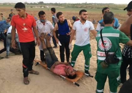 """"""" محدث"""".. إصابات بقمع الاحتلال تظاهرة شبابية شرق ديرالبلح وسط قطاع غزة"""