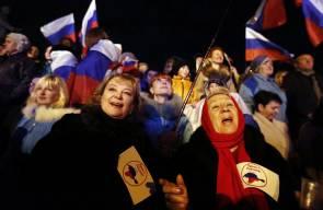 احتفالات في القرم بمناسبة الاستفتاء على الانضمام الى روسيا