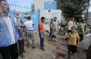 الاحتلال ينفذ مجرزة في مدرسة للاونروا برفح