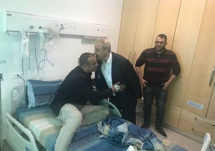 """صور : اللواء """"ماجد فرج"""" يتفقد المصابين بحادث تفجير موكب الحمدلله"""