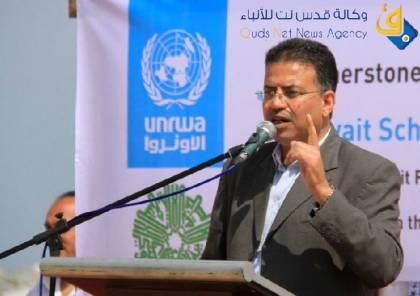 """أبو حسنة يتحدث عن لقاح كورونا ودور """"أونروا"""" في تطعيم المواطنين واللاجئين"""