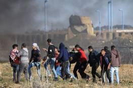 شهيد ومئات الاصابات برصاص الاحتلال الاسرائيلي في مسيرات العودة بقطاع غزة