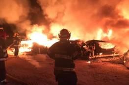 الاحتلال يحرق مزرعة في سبسطية وعبوة ناسفة صوب مستوطنة بيت ايل برام الله
