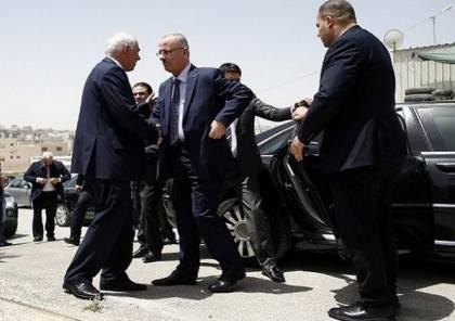 صور وفيديو : نجاة رئيس الوزراء الحمد الله ومدير المخابرات فرج من محاولة اغتيال في غزة
