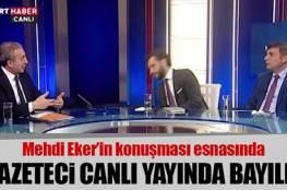 شاهد: إعلامي تركي يفقد الوعي على الهواء مباشرة