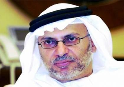 قرقاش نفى وصول وفد دبلوماسي من الإمارات إلى دمشق