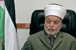 المفتي يحذر من قرار الاحتلال تمديد فترة اقتحام المستوطنين للأقصى لـ45 دقيقة إضافية