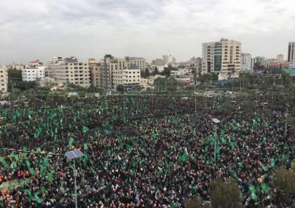 القناة 20: نصف مليون شاركوا حماس بذكرى انطلاقتها الـ31