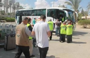 انتهاء مغادرة أفواج حجاج قطاع غزة عبر معبر رفح