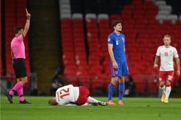 England player Harry Maguire expelled (video)