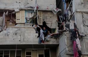 آثار قصف الإحتلال لمنازل المواطنين في قطاع غزة