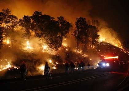 الحرائق تجتاح ولاية كاليفورنيا الأمريكية