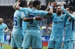 فيديو.. برشلونة يعود لسكة الانتصارات في الليغا بفوز صعب على إيبار