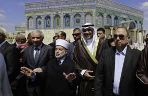 وزير الخارجية الكويتي الشيخ صباح الخالد الصباح يزور الحرم القدسي