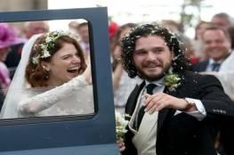 """بطلا """"صراع العروش"""" كيت هارينغتون وروز ليسلي يتزوجان في اسكتلندا"""