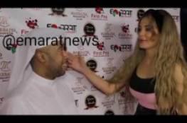فيديو: فنان كويتي يرفض قبلة دومينيك حوراني له ويضعها في موقف محُرج