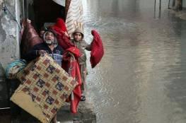 مصرع شاب وغرق عشرات المنازل بسبب الأمطار الغزيرة شرق مدينة غزة