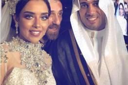 صور:زفاف أسطوري لبلقيس فتحي والفستان بالالماس والشجرة من الذهب