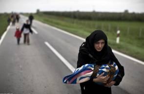 باحثون عن الحياة  مشاهد لآلاف اللاجئين السوريين على حدود عدد من الدول الاوروبية