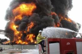 حريق يلتهم 35 مركبة في بئر السبع كانت شرطة الاحتلال قد صادرتها