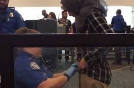 فيديو.. تفتيش مهين لمحجبة في مطار بوسطن