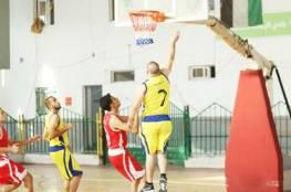 فوز لدير البلح في ختام الدور الاول لدوري كرة السلة