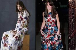 الفستان يزدان بنقوش الزهور هذا الربيع