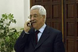 الرئيس عباس يتلقى اتصالا هاتفيا من أمير قطر