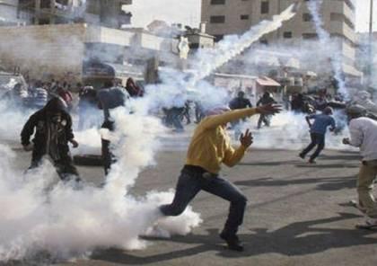 مواجهات مع الاحتلال في بلدة قصرة جنوب نابلس عقب صلاة الجمعة