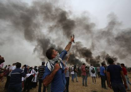 32 اصابة خلال قمع الاحتلال للمتظاهرين العزل شرق قطاع غزة