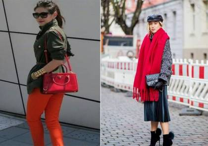تألقي بالأحمر هذا الشتاء بدمجه مع هذه الألوان
