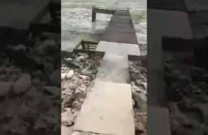 اختفاء مياه المحيط عند شواطئ جزر البهاما بسبب إعصار إيرما
