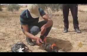 شاهد كيف أشعلت طائرة ورقية من غزة تحمل مواد حارقة حقول الاحتلال