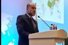 الهباش يلقي كلمة فلسطين في مؤتمر منظمة التعاون الإسلامي حول القدس في انقرة
