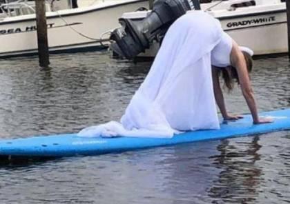 فتاة ترتدي فستان الزفاف وتعبر البحار بحثاً عن عريس