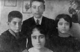 صورة تاريخية لفريد الأطرش برفقة عائلته