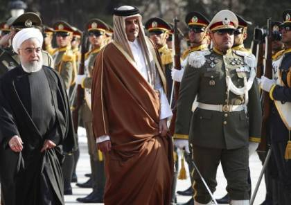 أمير قطر يصل طهران لبحث خفض التصعيد بالمنطقة