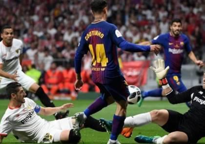 إشبيلية يصدر بيانًا بعد تعديل قوانين كأس السوبر لصالح برشلونة !
