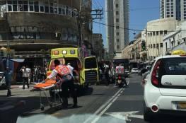 اصابة 8 إسرائيليين دهساً في تل أبيب