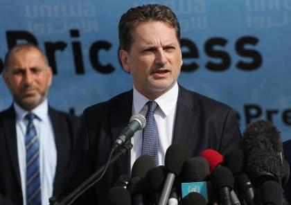 """المفوض العام لـ """"أونروا"""" سيعلن غدًا خفض العجز المال للعام 2018"""