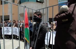 صحفيون من غزة يتضامنون مع اضراب الاسرى