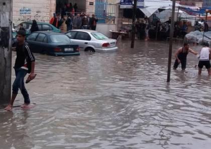 مياه الأمطار تغرق عدة مناطق في النقب