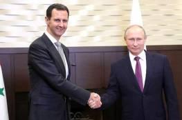 بوتين يبعث برقية للأسد، ماذا قال فيها ؟