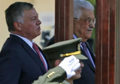 الرئيس عباس يعزي العاهل الأردني بضحايا السيول