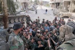 """""""الأسد"""" يزور الجبهات في الغوطة الشرقية"""