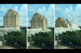 فيديو.. تدمير فندق من الدرجة الأولى خلال 10 ثوان!